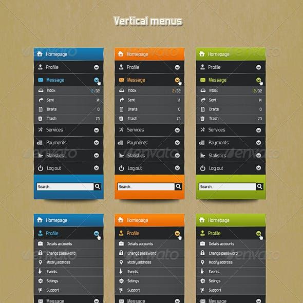 Vertical user menu
