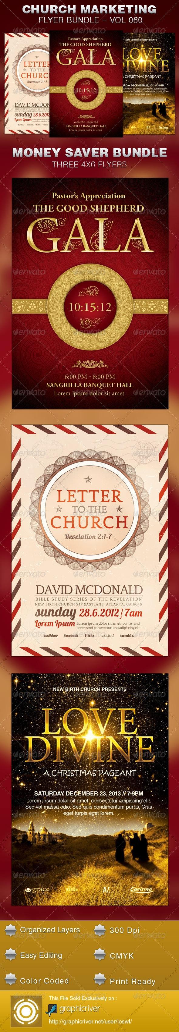 Church Marketing Flyer Template Bundle Vol 060 - Church Flyers