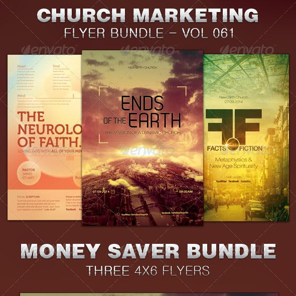 Church Marketing Flyer Template Bundle Vol 061