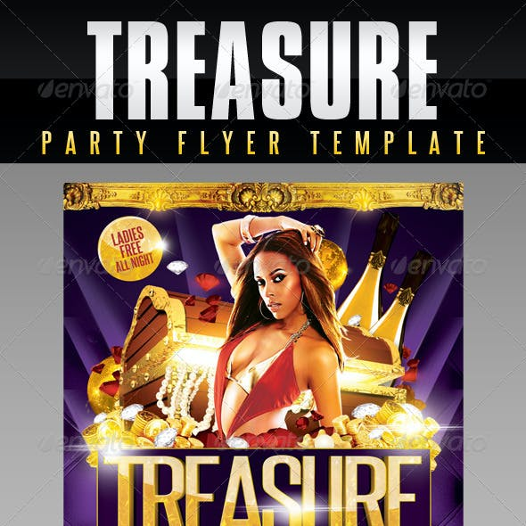 Treasure Party Flyer Template