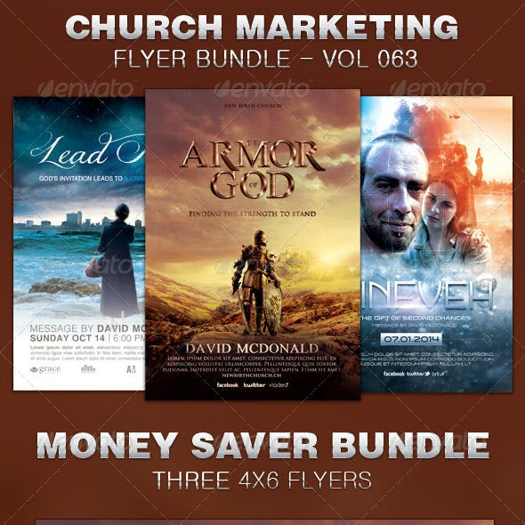 Church Marketing Flyer Template Bundle Vol 063