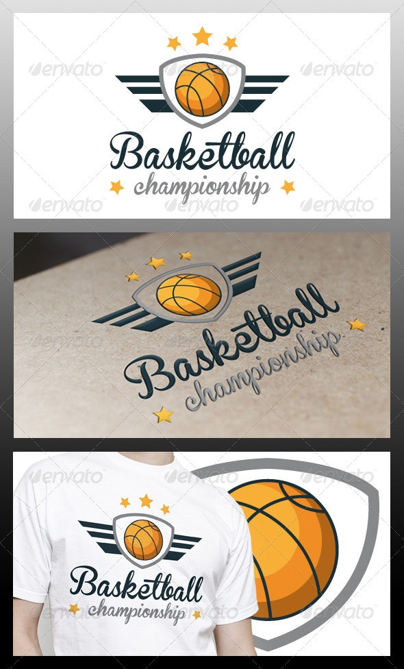Basketball Wings Logo Template - Crests Logo Templates