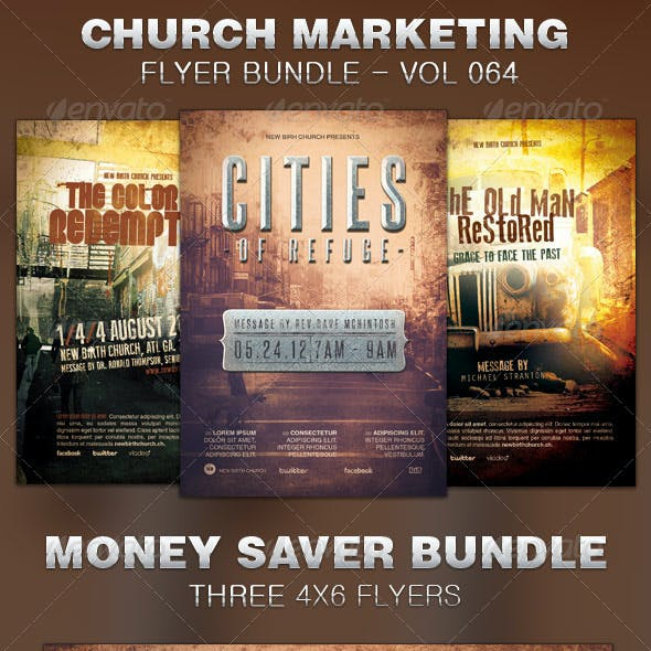 Church Marketing Flyer Template Bundle Vol 064