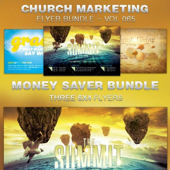 Church Marketing Flyer Template Bundle Vol 065