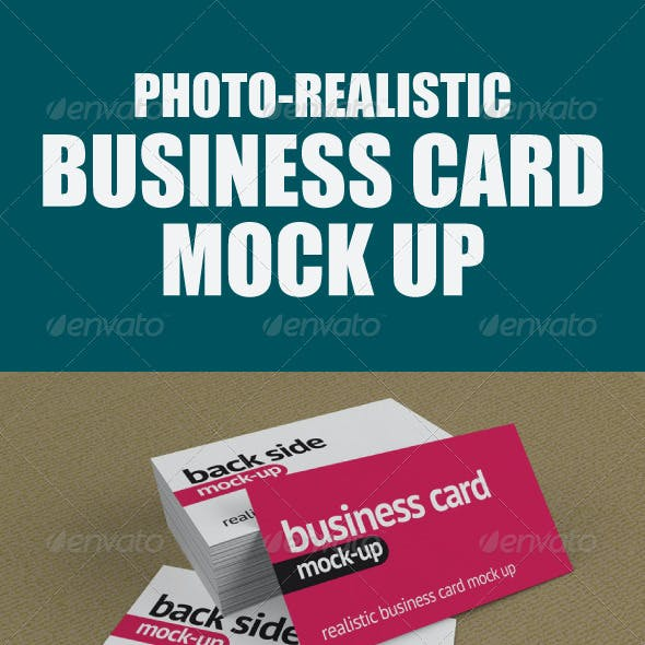 Photo-Realistic Business Card Mock-Up
