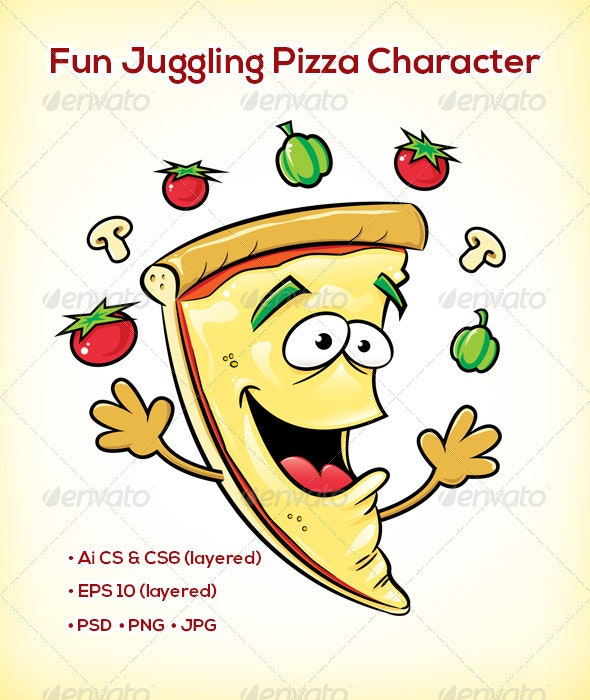 Pizza Slice Character - Miscellaneous Characters