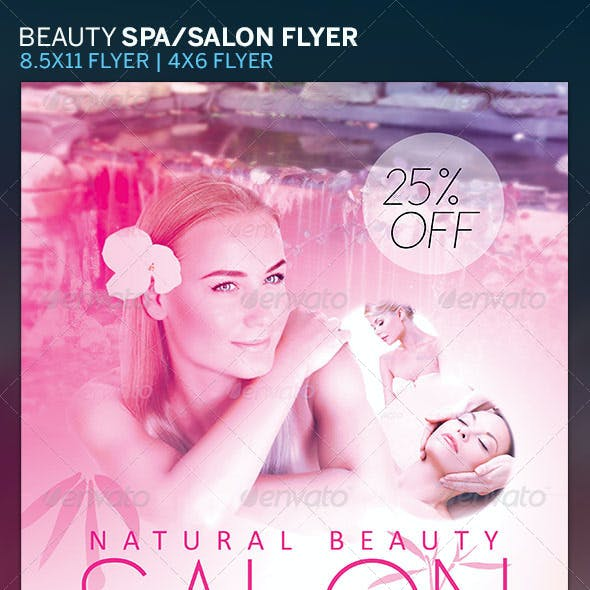 Beauty Salon and Spa Flyer Template