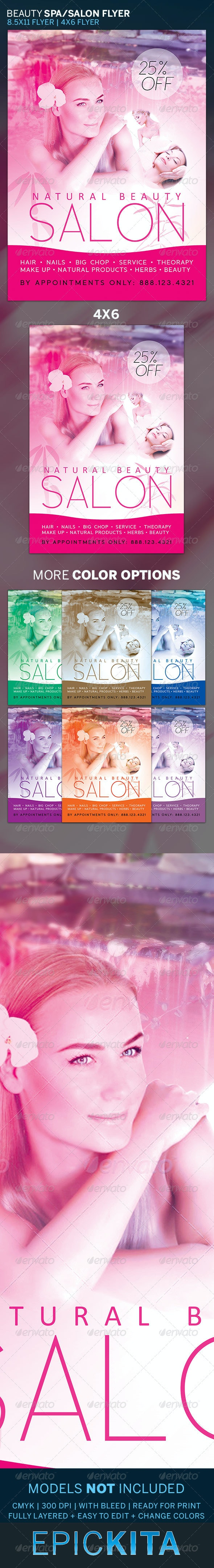 Beauty Salon and Spa Flyer Template - Commerce Flyers