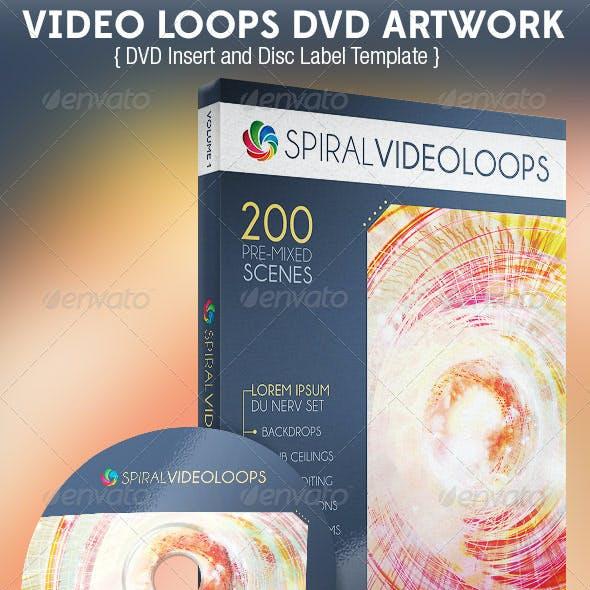 Video Loops DVD Artwork Template