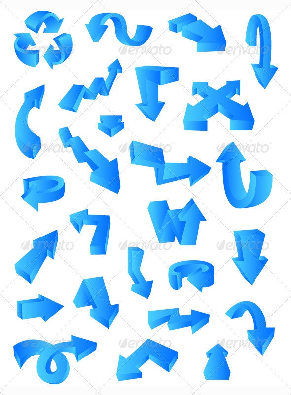 3D Arrows Pack - Decorative Symbols Decorative