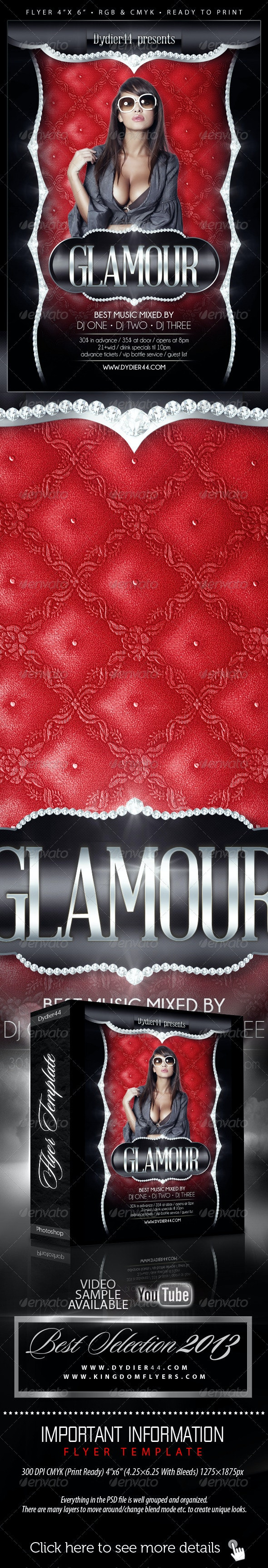 Glamour (Flyer Template 4x6) - Clubs & Parties Events