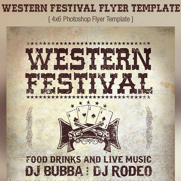 Western Festival Flyer Template