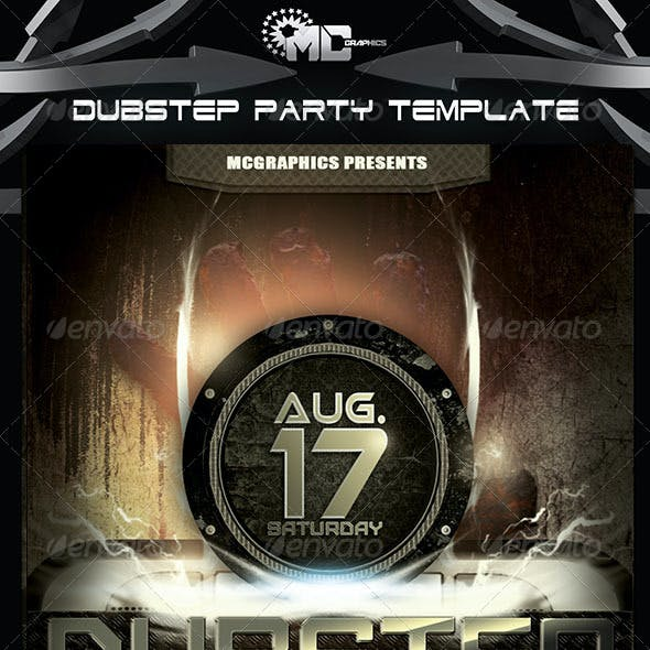 Dubstep  Party FlyerTemplate