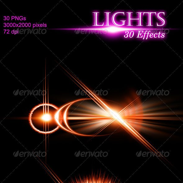 Unique Lights with 30 Effects
