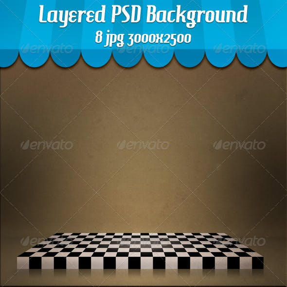 Chessboard Stage Backdrop