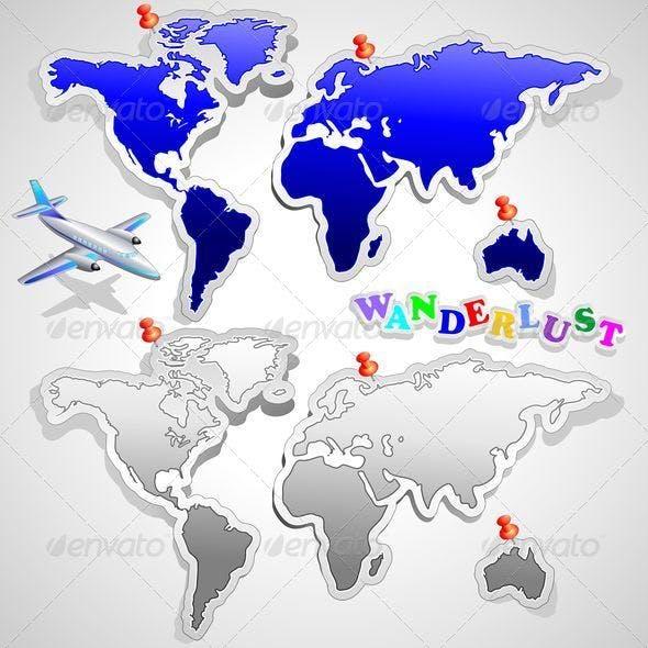 Air Plane Travel around the World