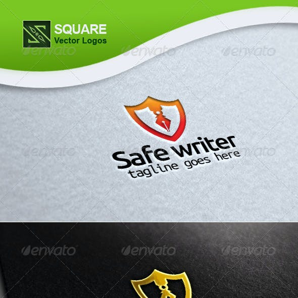 Download Shield, Writer Vector Logo Template