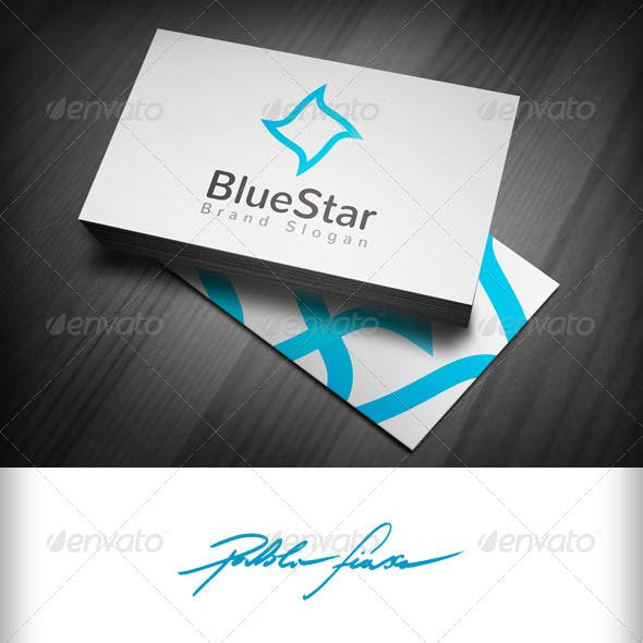 Blue Star Logo - Marketing & Charity Star Logo