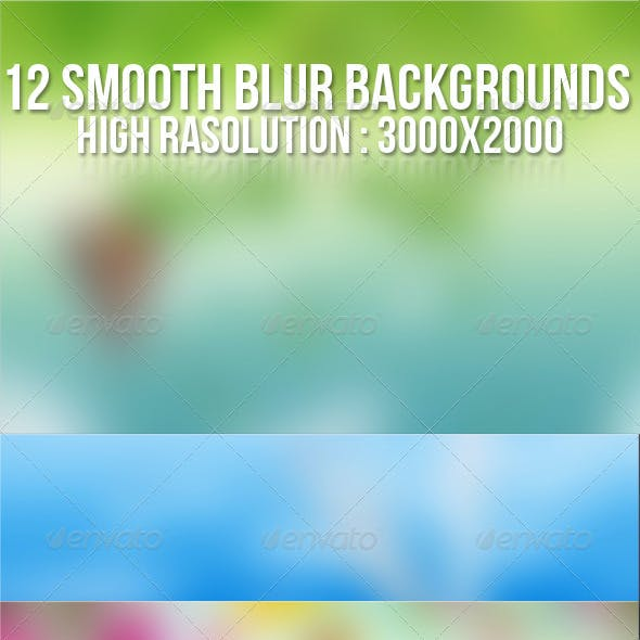 12 Smooth Blur Backgrounds