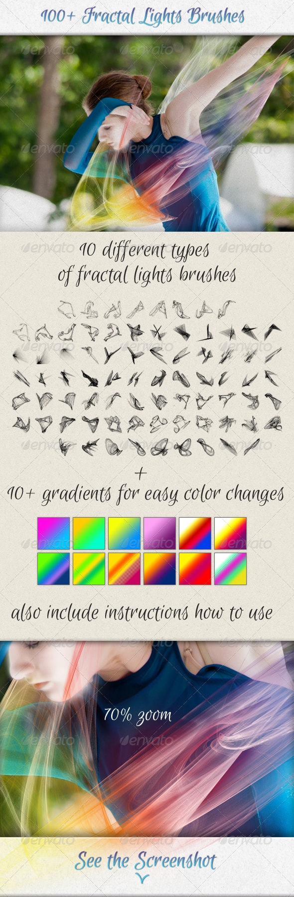 100+ Fractal Lights Brushes for Visual Effects - Abstract Brushes