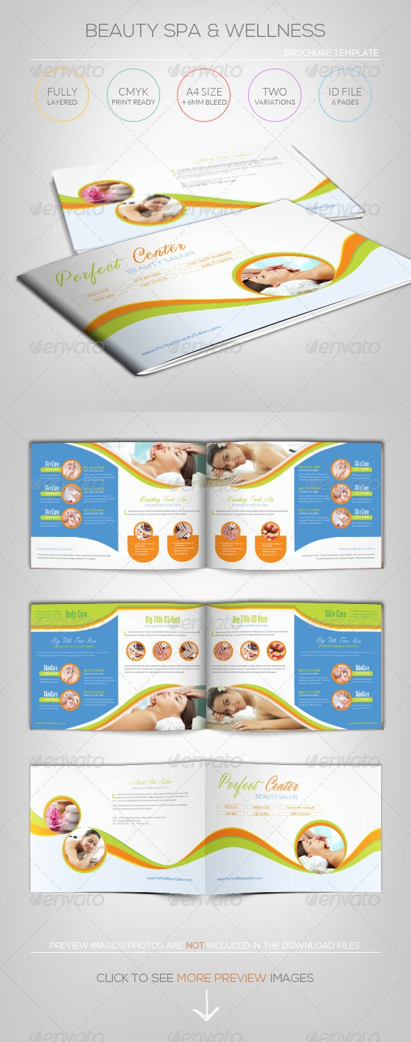 Beauty Spa & Wellness - Brochure Template - Informational Brochures