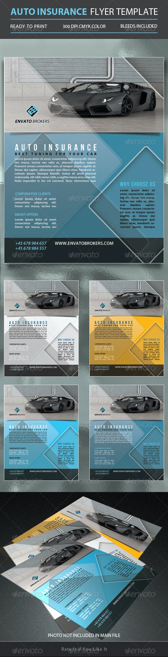 Auto Insurance Flyer Template - Corporate Flyers
