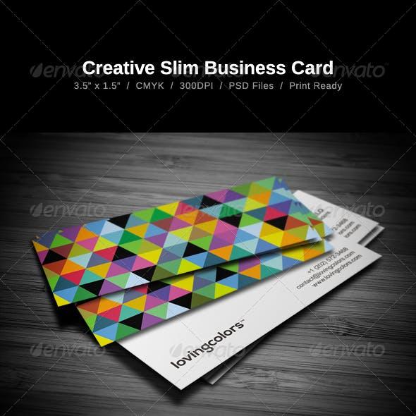 Creative Slim Business Card