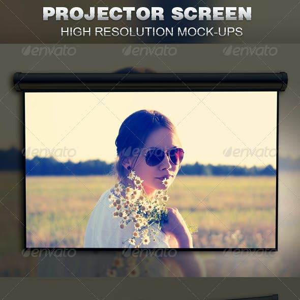 Projector Screen Mockup Template
