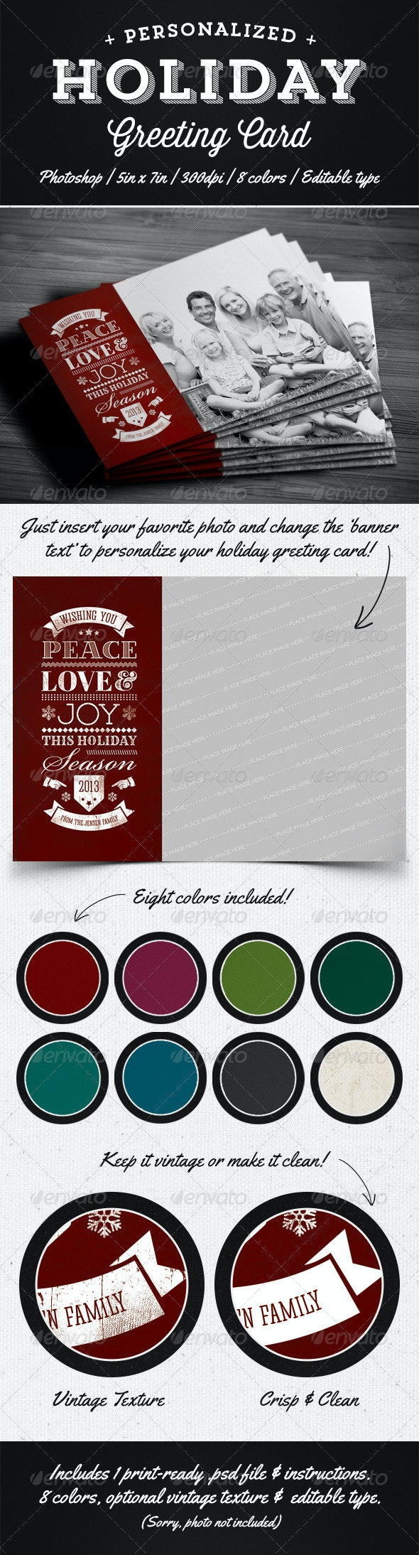 Personalized Holiday Greeting Card - Holiday Greeting Cards