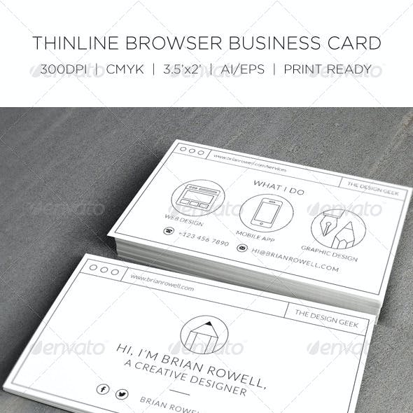 Thin-line Browser Business Card