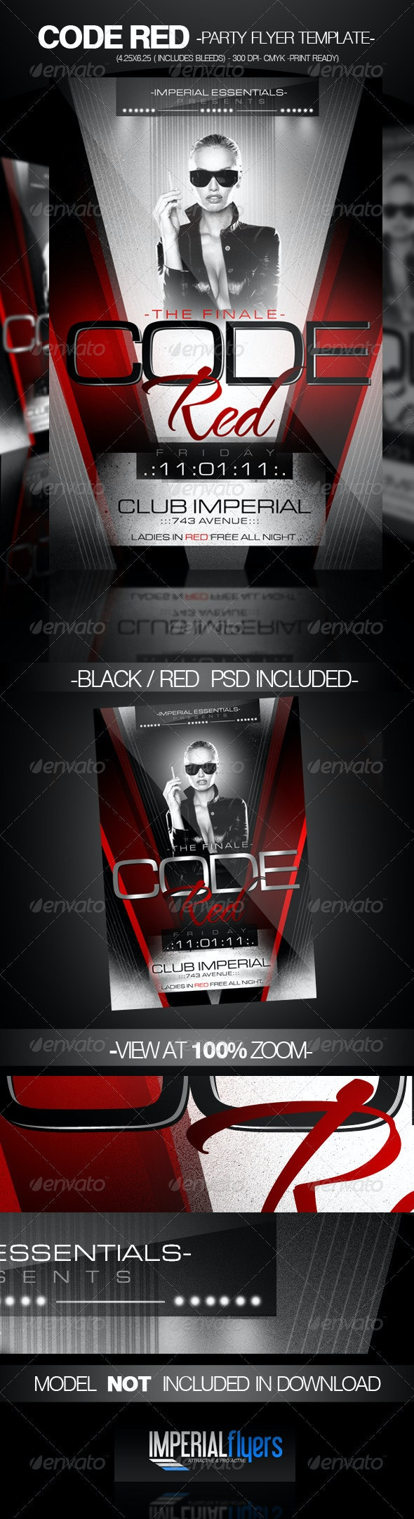 Code Red Party Flyer - Clubs & Parties Events