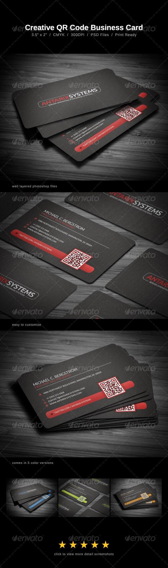 Creative QR Code Business Card - Business Cards Print Templates