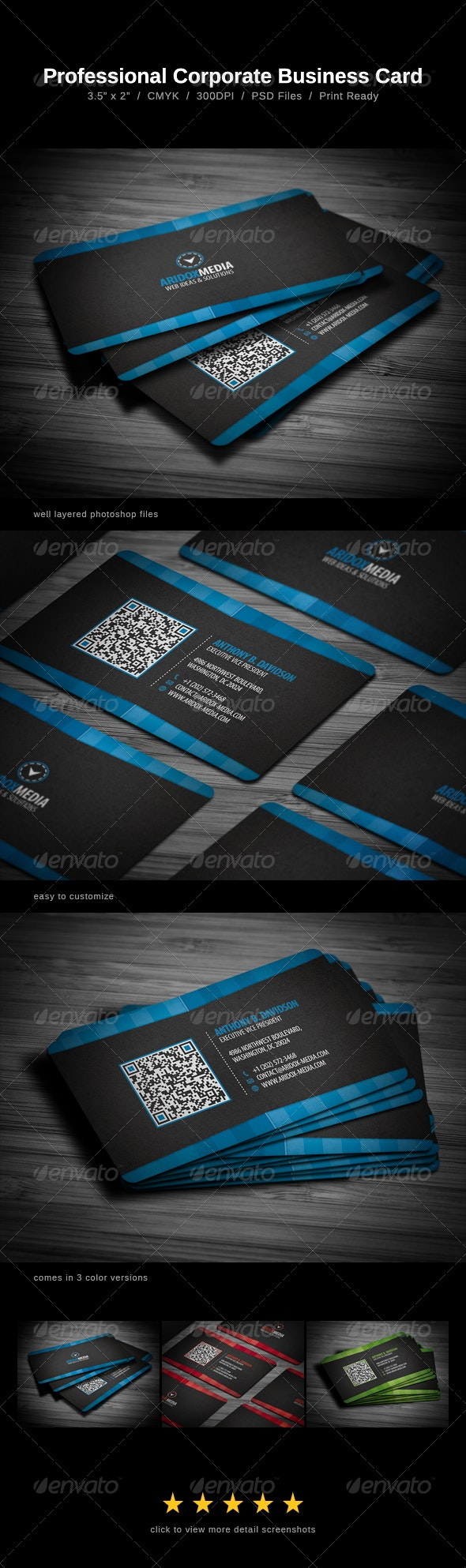 Professional Corporate Business Card - Corporate Business Cards