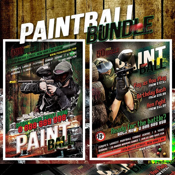 Bundle Grunge Paintball Flyer