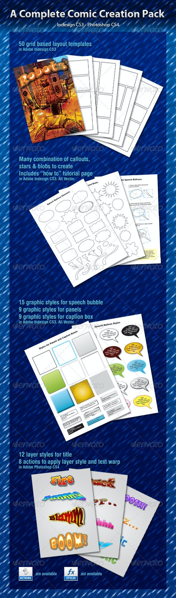 A Complete Comic Creation Pack - Miscellaneous Print Templates