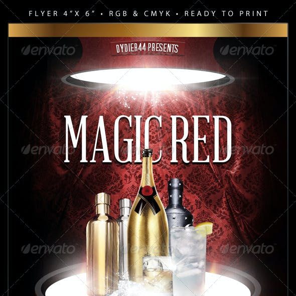 Magic Red (Flyer Template 4x6)