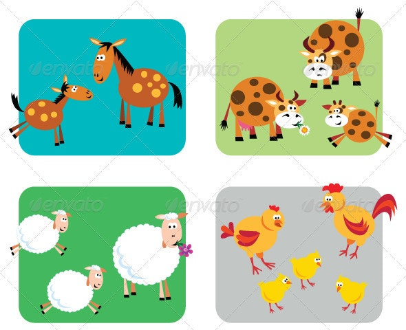 Farm Animal Families - Animals Characters