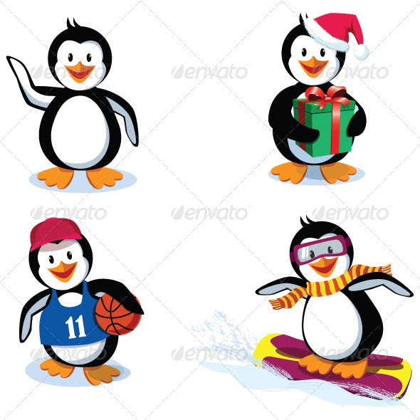 Funny Penguins - Animals Characters