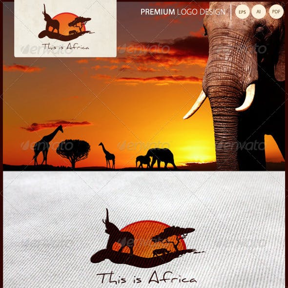 This Is Africa - Travel Logo