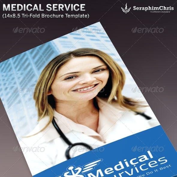 Medical Service Tri-Fold Brochure Template