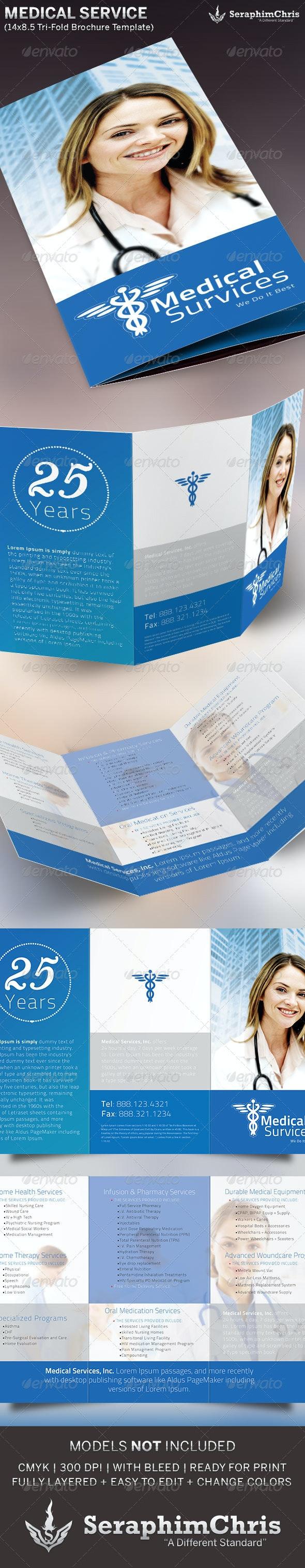 Medical Service Tri-Fold Brochure Template - Informational Brochures