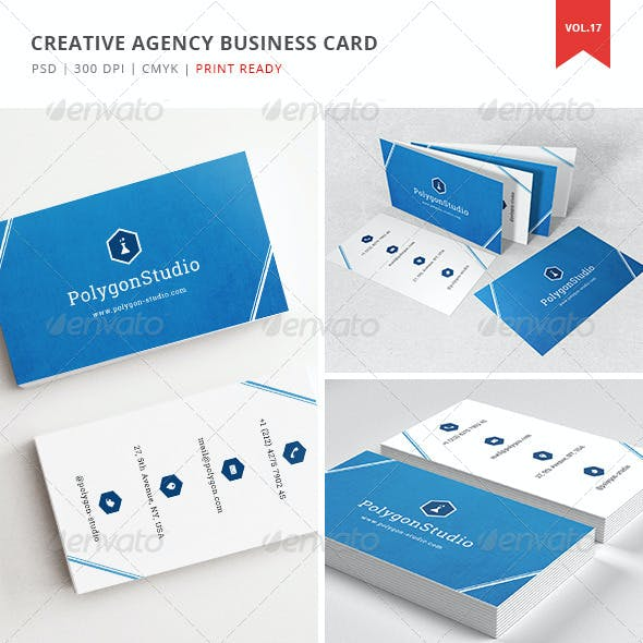 Creative Agency Business Card  - Vol. 17