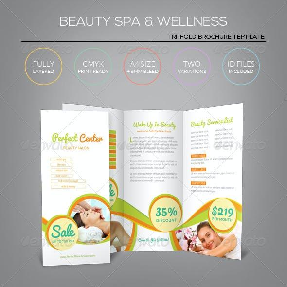 Beauty Spa & Wellness - Tri-Fold Brochure Template
