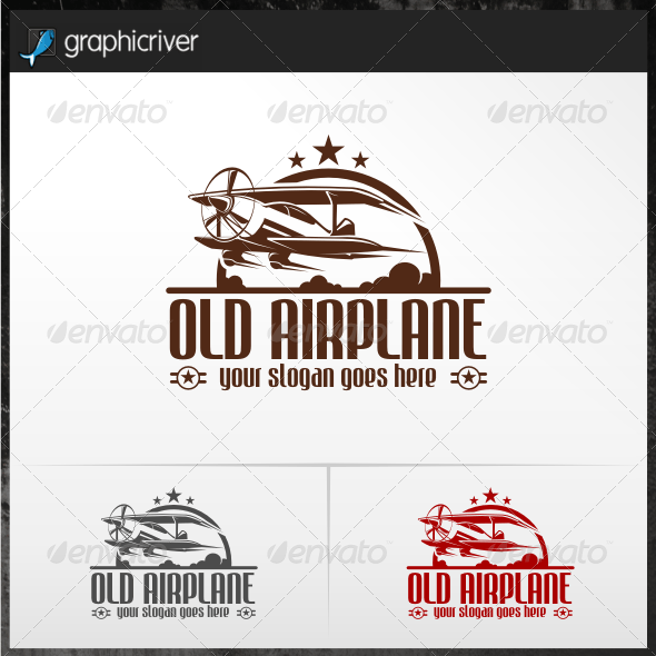 Old Airplane Logo Templates
