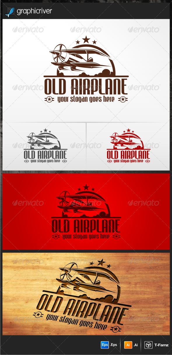 Old Airplane Logo Templates - Objects Logo Templates