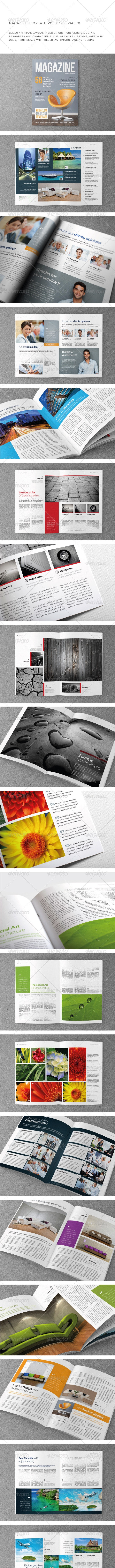 A4/Letter 50 Pages mgz (Vol. 7) - Magazines Print Templates