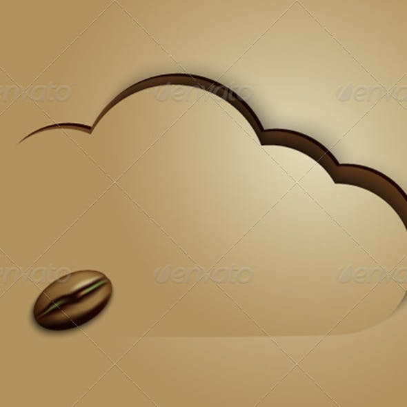 Coffee Cloud Background
