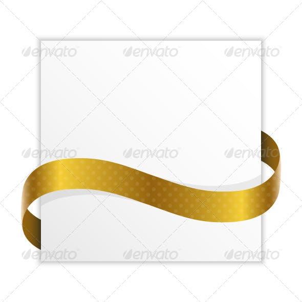 Paper Golden Ribbon
