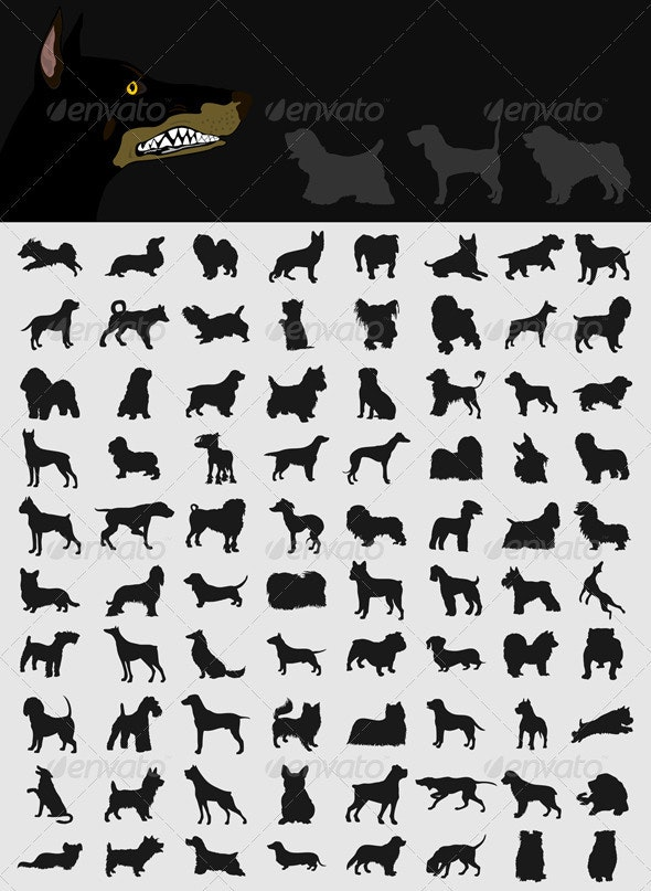 Collection of dogs2 - Animals Characters