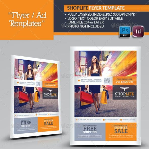 Shop Life Flyer Template